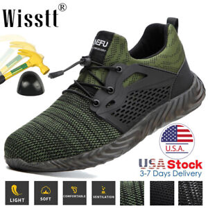 Men Steel Toe Labor Construction Work Safety Boots Sneakers Reflective Reliable