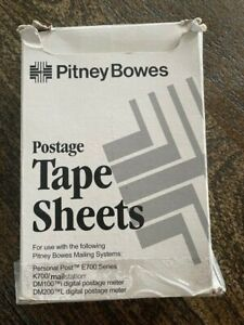 Pitney Bowes Postage Tape Sheets 620 9