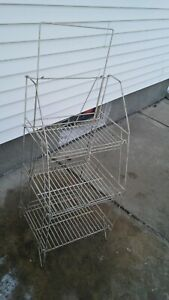 Antique Wire Display Rack Vintage Store Rack Folding Shelf Great For Cloths
