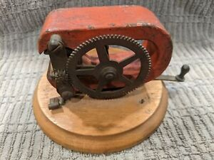 Antique Electric Hand Generator Magneto Dynamo Motor Patent April 27 1897