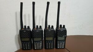 Lot Of 4 Relm Rpu6500a Handheld Radios All Power On No Charging Bases Included