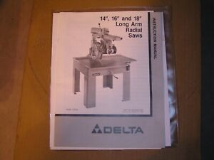Delta 33 410 16 Long Arm Radial Saw 3 Hp 230 Volt 1ph With 4 Freud Blades