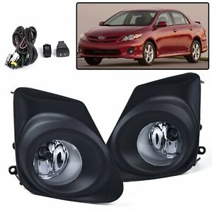 For 2011 2013 Toyota Corolla Front Fog Driving Lights Lamp Bulb Switch Kit 11 13