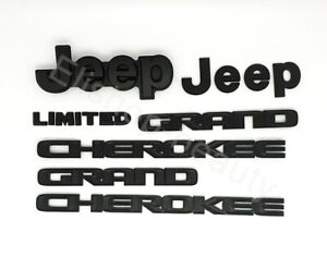 5pcs Black Emblem Nameplate Badge Kit For 2014 2020 Jeep Grand Cherokee Limited