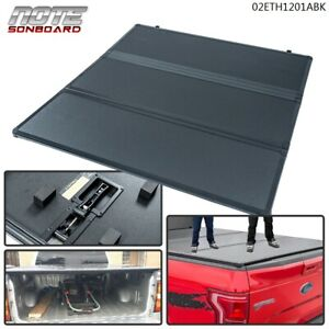 Hard Solid Tri Fold Tonneau Short Bed Cover Fit For 2004 2014 Ford F150 5 5ft