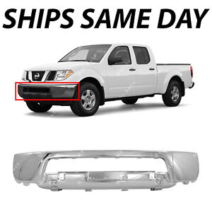 New Chrome Front Bumper Face Bar For 2005 2021 Nissan Frontier Pickup 05 21