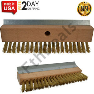 Industrial Strength Pizza Oven Stone Brush Scraper And Cleaner 10 Brown New