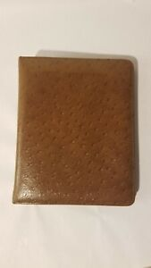 Vintage Ostrich Calf Leather Day Timer 7 Ring Binder 2in Rings 7 5x9 5