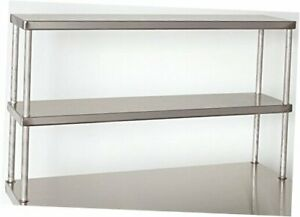 Tarrison Dos1260 Heavy Duty 18 Gauge Stainless Steel Top Double Work Table