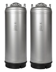 2 Pack New 5 Gallon Ball Lock Kegs Homebrew Cold Brew Coffee O ring Kit