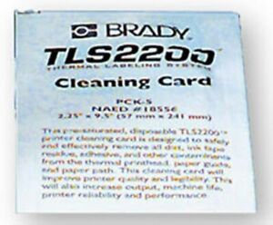 Brady 2200 Straw Label Printing System Printer Cleaning Card Kit 5 package Ai
