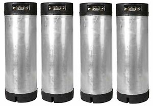 4 Pack 5 Gallon Ball Lock Kegs Reconditioned Homebrew Beer Tea O ring Kit