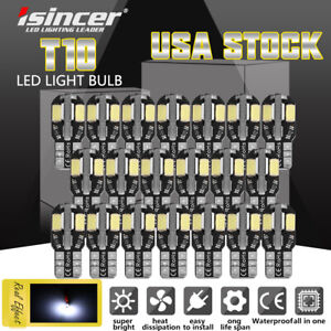 20pcs White Led Interior Dome Map License Light Bulb T10 2825 168 158 194 Canbus