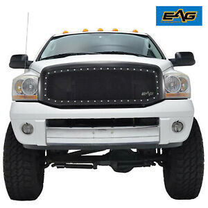 Eag Black Steel Mesh Replacement Grille Shell Fit 06 08 Dodge Ram 1500 2500 3500