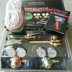 Flame Tech Victor Style Medium Duty Oxy acetylene Torch Kit New