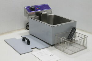 See Notes Dulong Commercial Electric Deep Fryer Countertop Stainless Deep Fryer