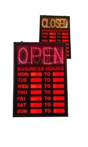 Open closed Led Sign