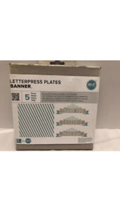 Letterpress Plates Banner By We R Memory Keepers New 5 Pcs