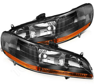 For 1998 2002 Honda Accord Projector Headlights Headlamps Replacement Left right