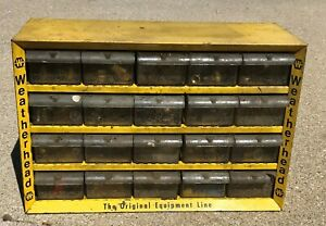 Vintage Weatherhead Parts Cabinet 20 Drawers Brass Fittings Drawers Full Storage
