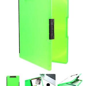 Dexas 3517 807 Slimcase 2 Storage Clipboard With Side Opening Neon Green