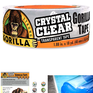 Gorilla Crystal Clear Duct Tape 1 88 X 18 Yd Clear pack Of 1 1 Pack