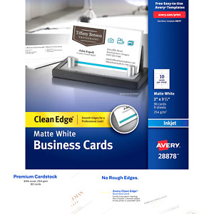 Avery Printable Business Cards Inkjet Printers 90 Cards 2 X 3 5 Clean Edg