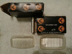 Two Vintage New In Box Nos Kc Hilites 5 Fog Light Lens Cover Clear 4521 5yl