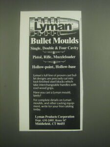 1985 Lyman Bullet Moulds Advertisement $16.99