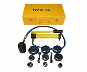 Comie 15ton Hydraulic Knockout Punch Kit Hand Pump 11 Dies Tool Hydraulic Opener