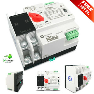 Single Phase Din Rail For 2p 63 100 125aats Dual Power Automatic Transfer Switch