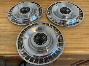 1961 Chevrolet Chevy Impala Belair Biscayne 14 Inch Hubcaps Wheel Covers Set 3