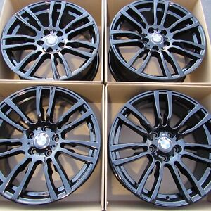 19 Oem Bmw 430i 330i Factory Wheels 19 Inch Staggered Rims Gloss Black 440i