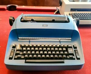 Ibm Selectric Typewriter Original Model And Color Big Blue Cleaned Lubed