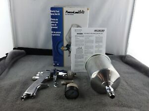 Devilbiss flg 670 Finishline Gravity Feed Spray Gun Kit Used