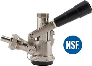 Bev Rite American Sankey Keg Coupler D System With Stainless Steel Probe New