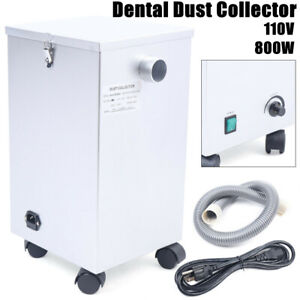Dental Mobile Dust Collector Lab Vacuum Cleaner Extractor Dust Removal 110v 800w
