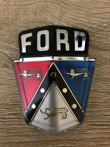 1950 1951 Ford Hood Emblem And Bezel Car And Station Wagon