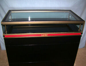 Used Lighted Cartier Display Case Store Counter Showcase Cabinet Glass Top
