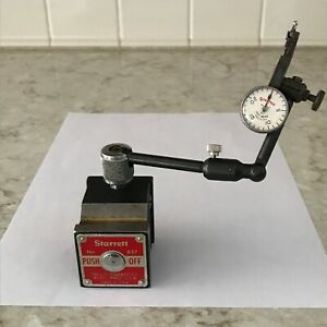 Starrett Magnetic Base Model 657 Last Word 711 c Dial Indicator