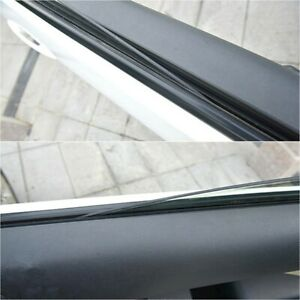1pc 4 Meters Car V Type Rubber Black Side Window Sealed Strip Universal Parts