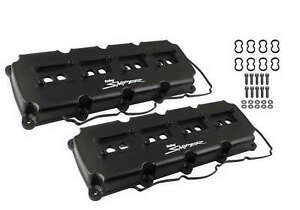Sniper Fabricated Aluminum Valve Cover Pair Gen 3 Hemi 5 7l 6 4l Black
