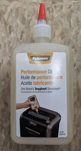 Fellowes 35250 Powershred Performance Oil 12 Oz Bottle W extension Nozzle New