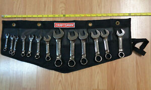 Usa Made Craftsman Industrial Stubby Short Wrench Set Sae Inch Polished 13pc