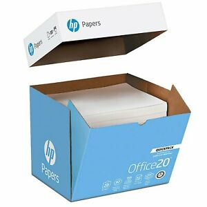 Hp Office Paper 20lb 92 Bright 8 1 2 X 11 Ultra white 2500 Sheets