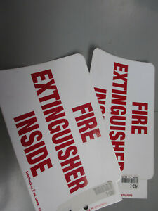 Ms Carita Fxi 1 Fire Extinguisher Safety Decal Sticker Label Free Shipping
