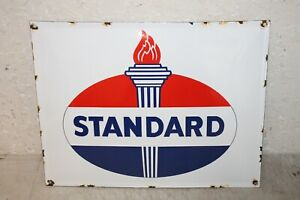 Standard Oil Vintage Style Porcelain Signs Gas Pump Man Cave Station