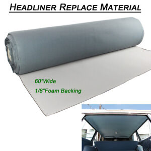 For Jeep Cherokee 1984 2001 Gray Headliner Replace Fabric Backing Foam Material