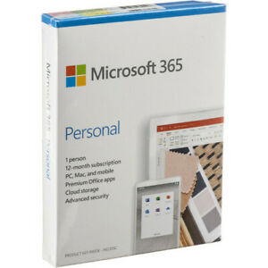 Microsoft Office 365 Personal 12 month 1 Person Pc mac Qq2 01024 In Retail Box