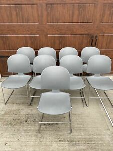 Steelcase Max stacker Ii Stackable Guest Conference School Chairs Set Of 9